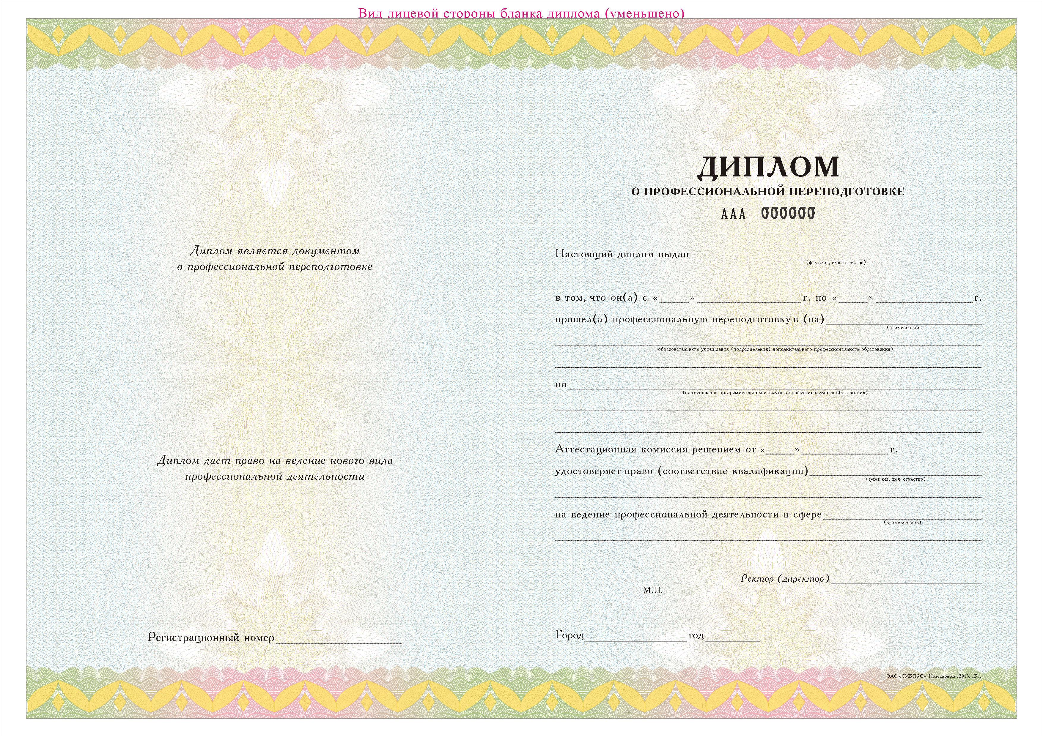 ОмГТУ Институт безопасности жизнедеятельности Омский  Образец диплома